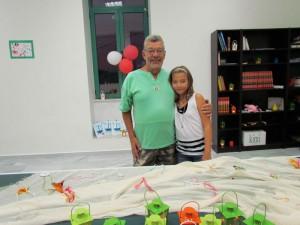 Ο Γιώργος Δούνας με την εγγονή του Μαρία