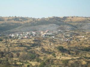 Άποψη του Κρεμαστού, έναν χρόνο μετά τη φωτιά του 2007