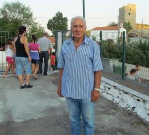 Παρών στο Τραχήλι και ο περήφανος παππούς Τάκης Σιμιτζής που πήγε να καμαρώσει τον εγγονό