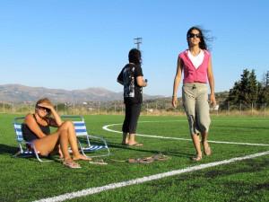 Το νέο γήπεδο της Βρύσης πάντως, προσφέρεται και για φιλάθλους που θέλους να συνδυάσουν θέαμα και ηλιοθεραπεία!