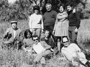 Ο Ανδρέας Σιμιτζής με την οικογένειά του