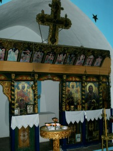 Το σημερινό τέμπλο της Μονής Κλιβάνου