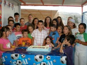 Πάρτυ στο κοντέινερ για τα γενέθλια του μικρού Νικόλα Αρβανίτη, Αύγουστος 2009